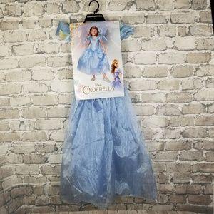 Disney Deluxe Cinderella Costume Size Med 7/8 Blue
